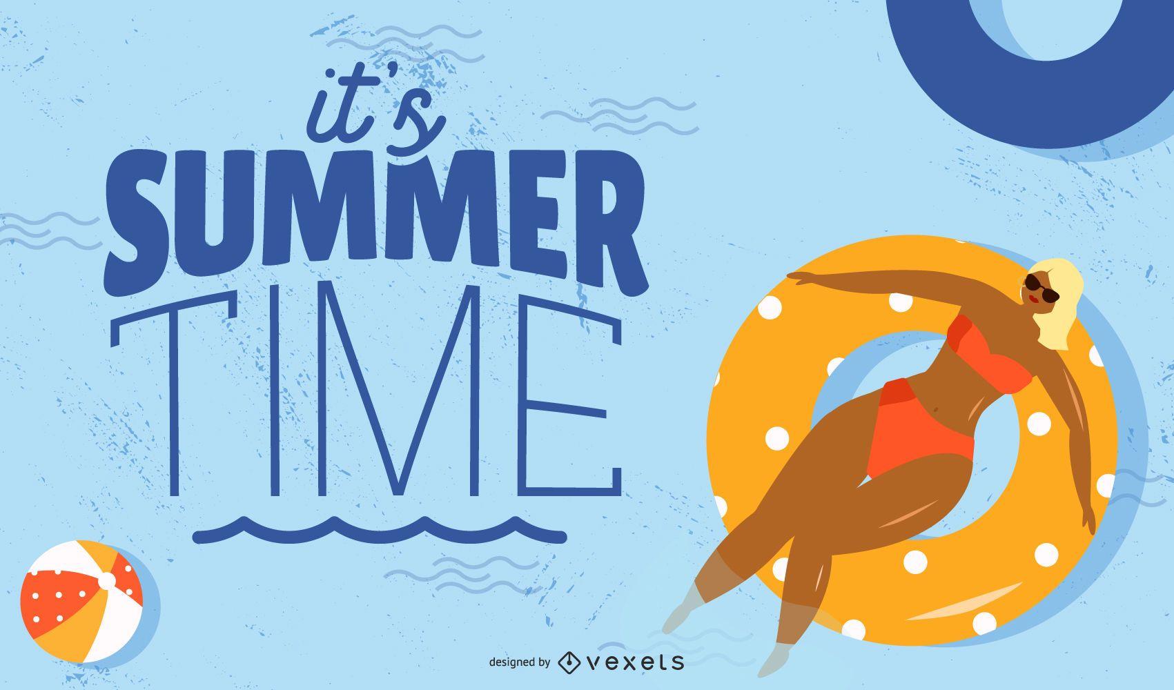 It's Summer Time Background Design