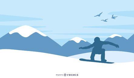 Niño de snowboard
