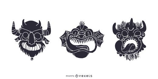 Tribal Monster Masks
