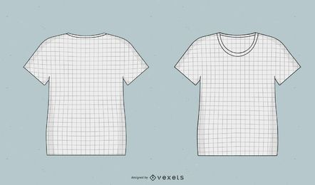 Camisetas Mock Up Templates Com Grid