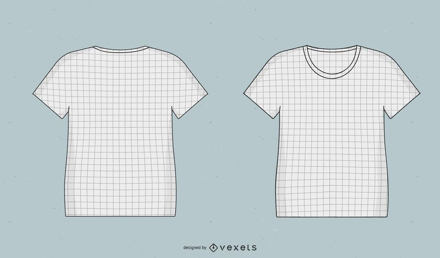 T Shirts Mock Up Templates With Grid