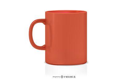 Taza de café maqueta de diseño.