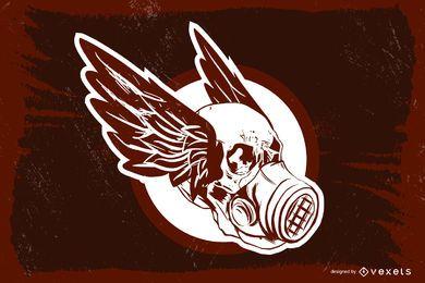Emblema tóxico del cráneo