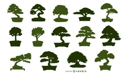 Asian bonsai Illustration
