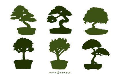 Ilustración bonsai asiática