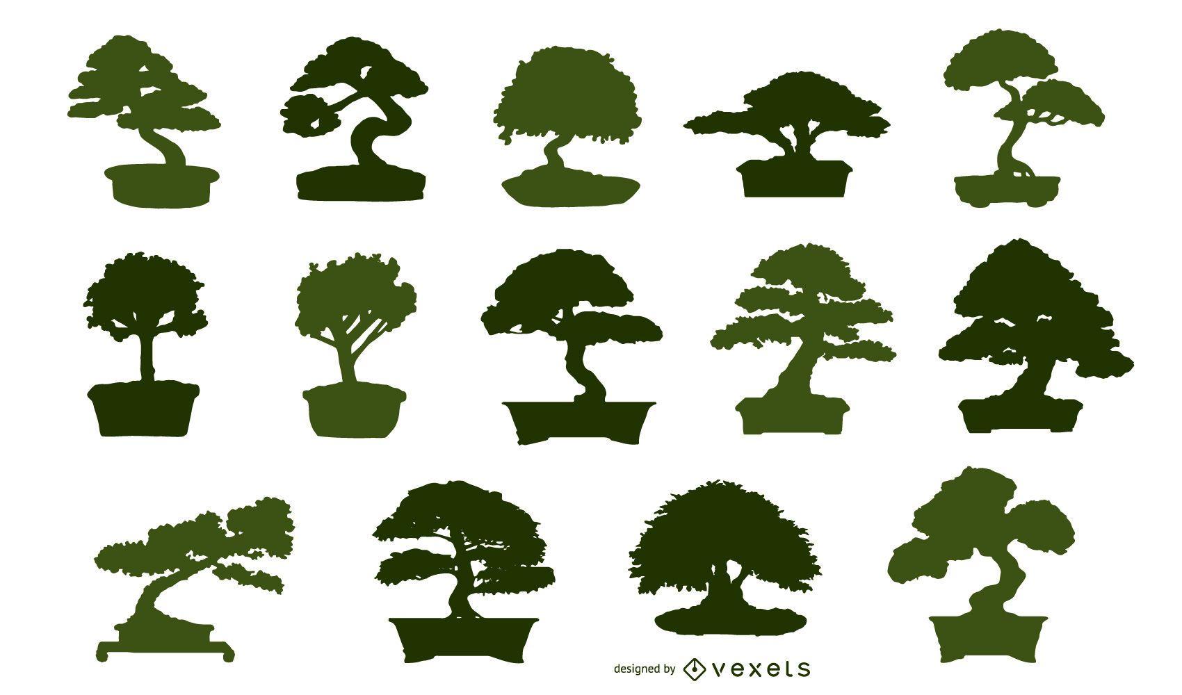 Ilustración de bonsai asiático