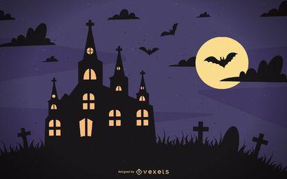 Cartel de halloween vector