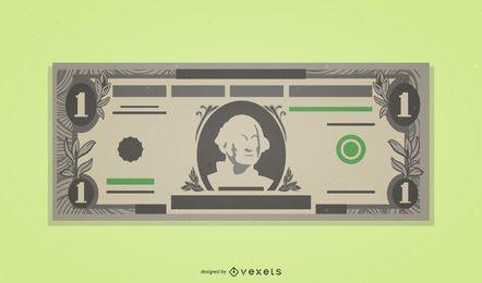 Un billete de un dólar americano
