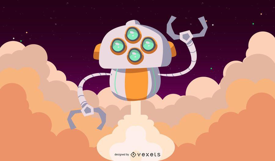 Space Robot Vector 3