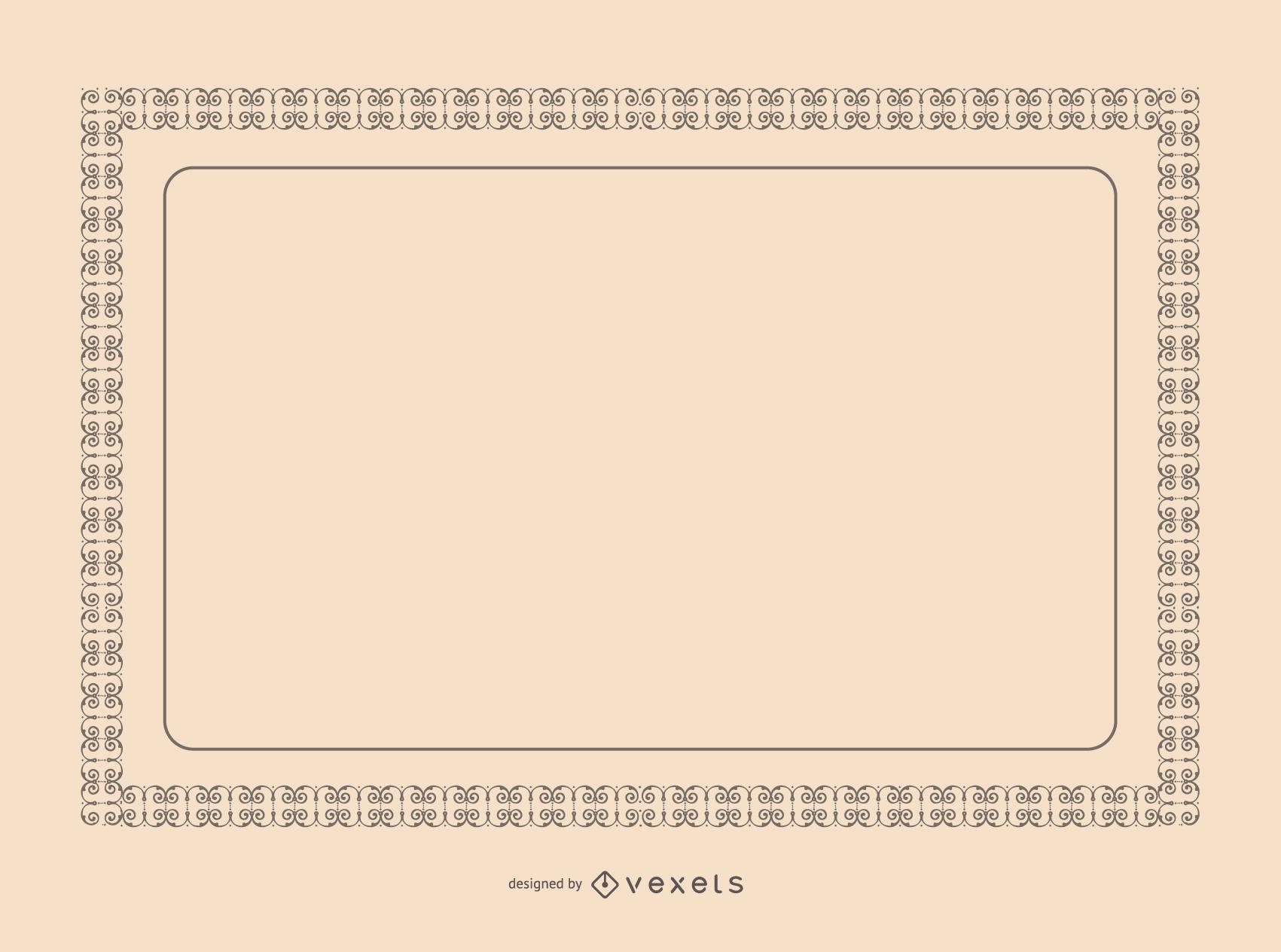 Certificate Border Vector - Vector download