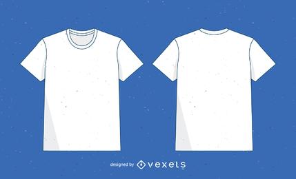 Modelo de camisa de vetor 2