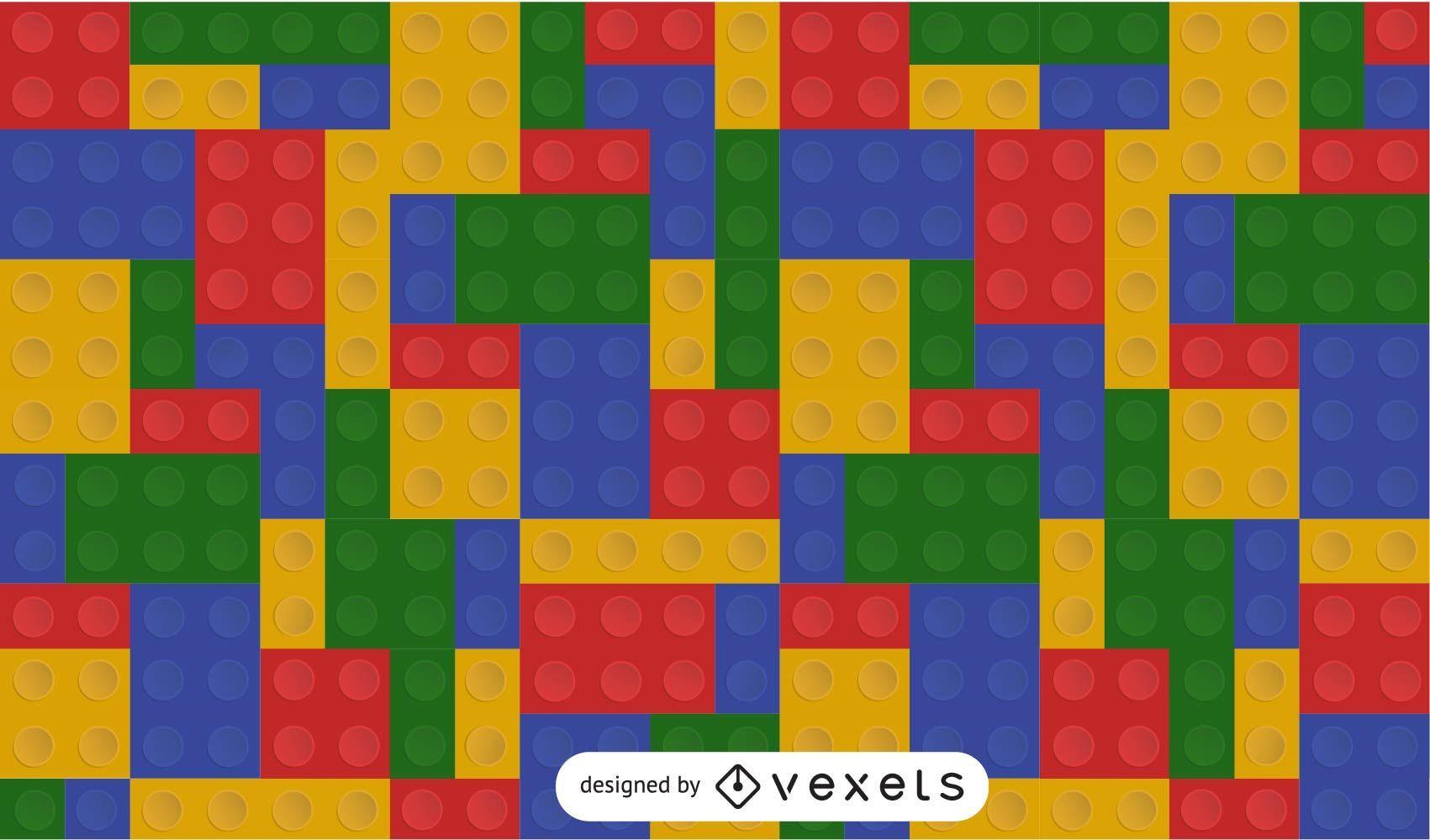 Gráfico vectorial de fondo de ladrillo Lego