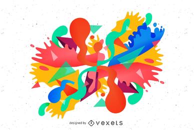 Diseño de burbujas coloridas vector