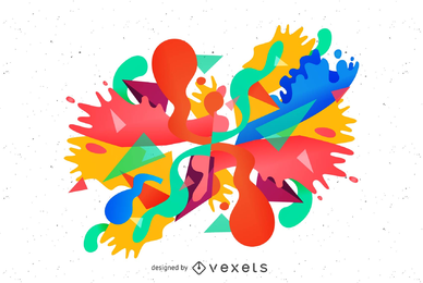 Diseño de burbujas de vector colorido