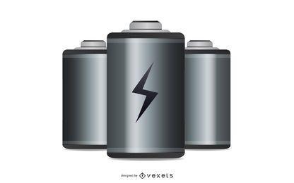 Ícone de bateria de vetor livre
