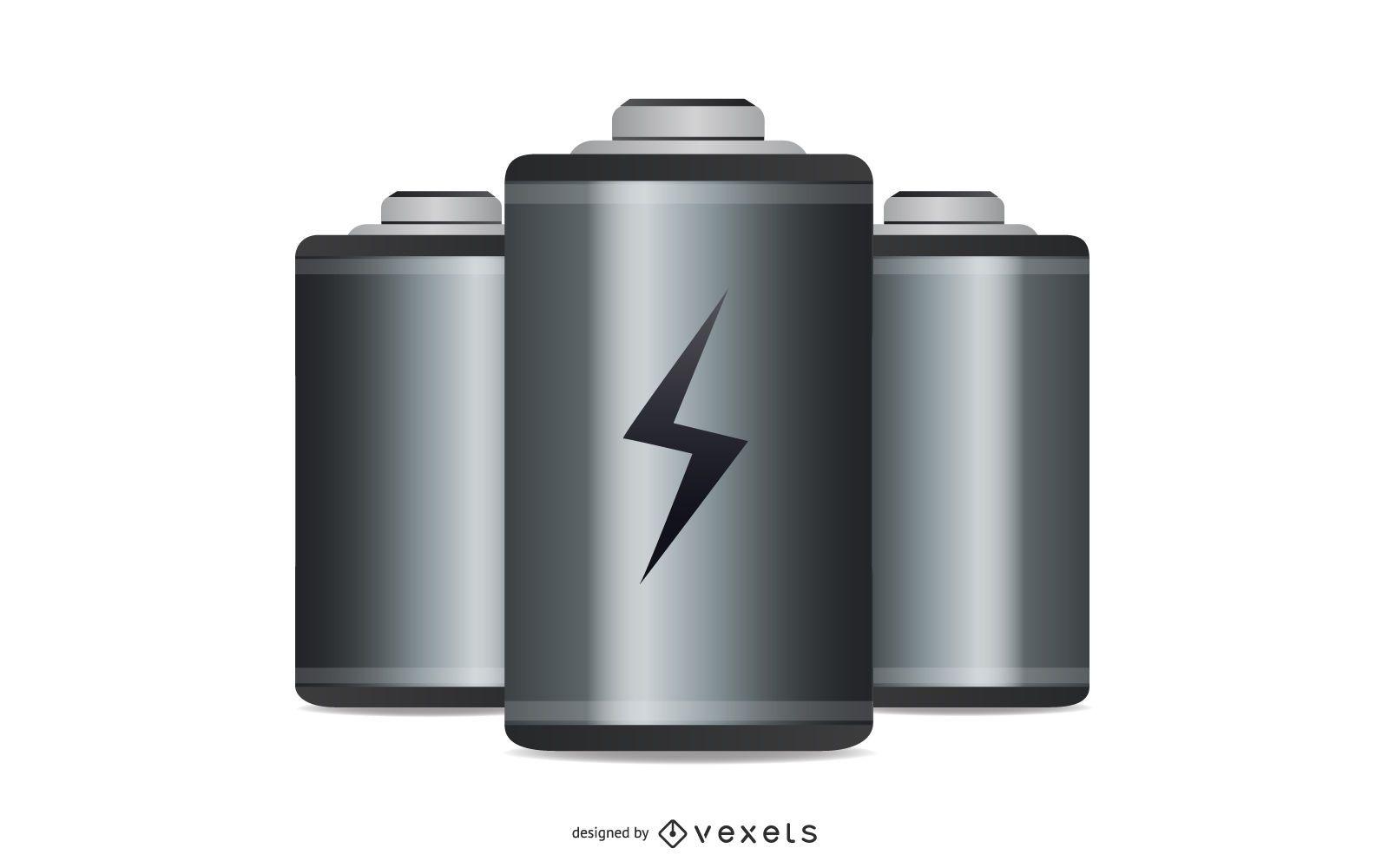 Icono de batería de vector libre