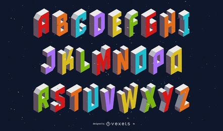 The Box Creative Letters Vector