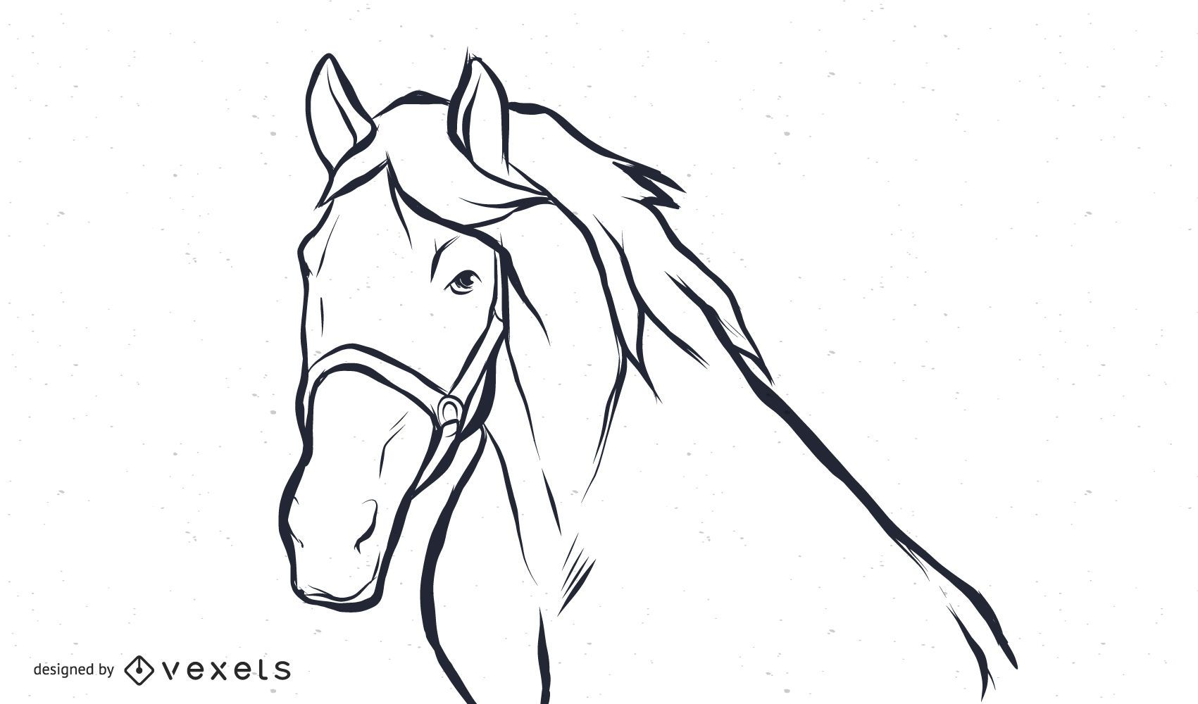 Black And White Horse Vector