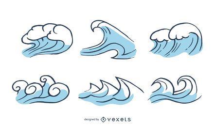 Gráfico vectorial de onda 2