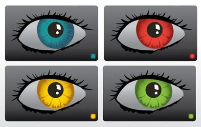 Color Eyes Vector Set