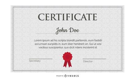 Lindo Diploma certificado modelo 05 Vector