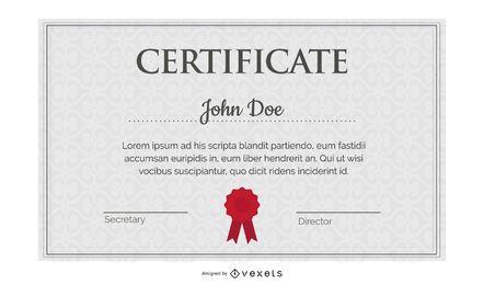 Precioso Diploma Certificado Plantilla 05 Vector