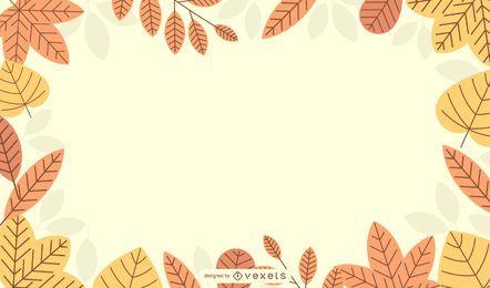 6 vector de borda de folha de outono outono