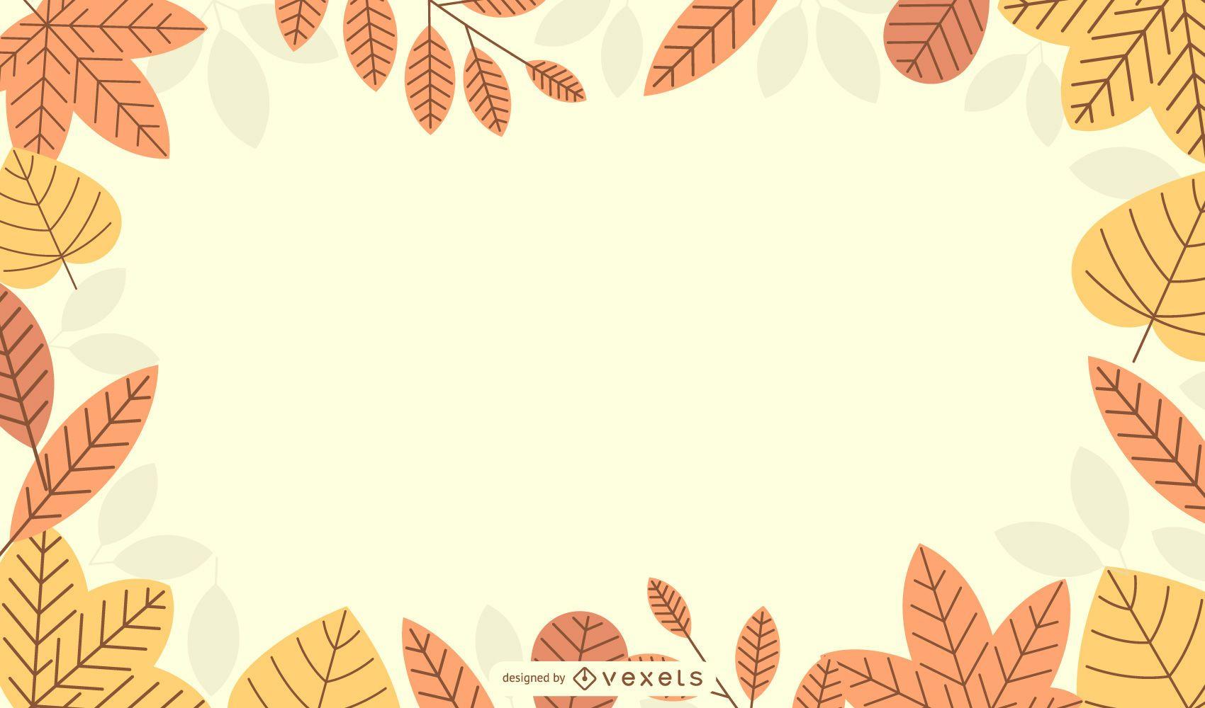 Diseño de fondo estacional de otoño