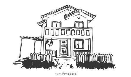 Vector de bosquejo de casa 5