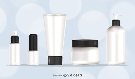 Maquillaje maqueta plantilla de embalaje