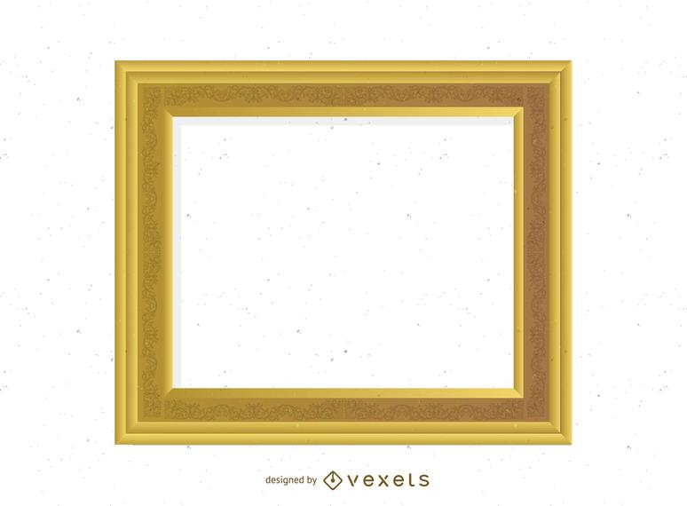 Marco de oro antiguo 03 Vector