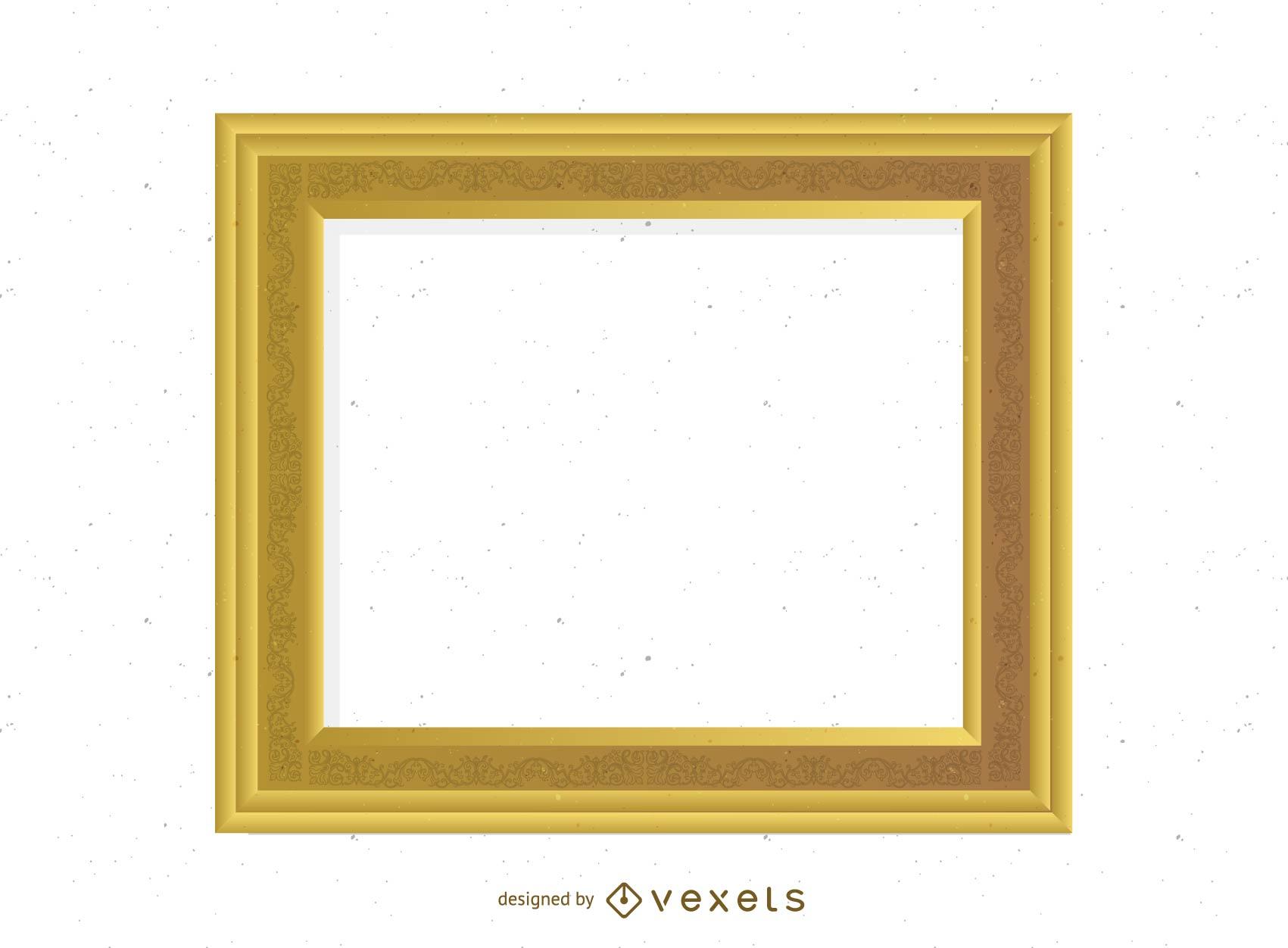 Antique Gold Frame 03 Vector