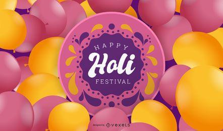 Festival festivo del globo del vector