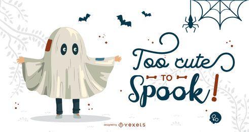 Vector linda escena de Halloween