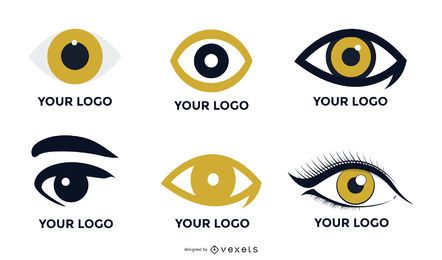 Vector de logotipo de gráficos de ojos
