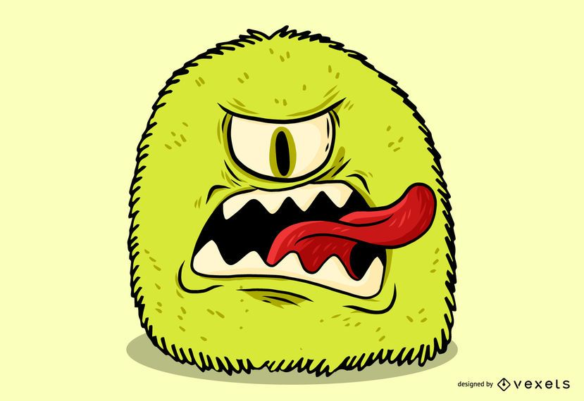 Green Monster Graffiti Vector