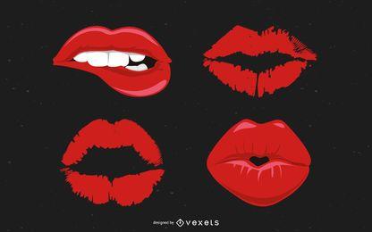 Conjunto de vectores de labios