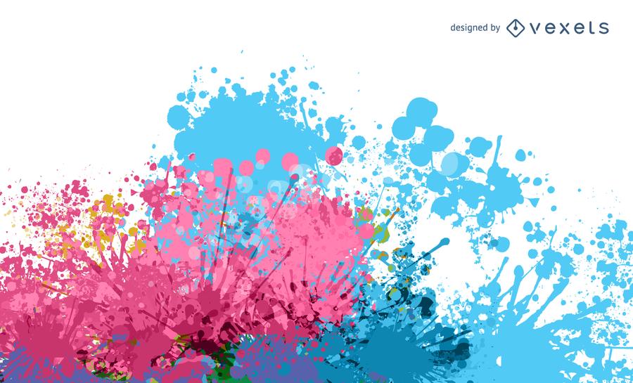Pintura colorida Splat Vector