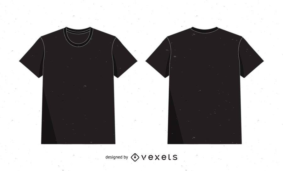 T Shirt Mockup Template In Black Over White Vector Download - T shirt mockup template