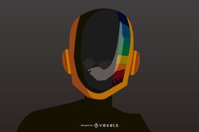Capacete Daft Punk Vector