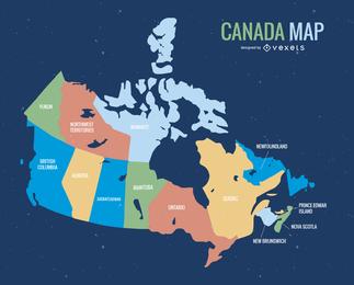 Vector de mapa de Canadá