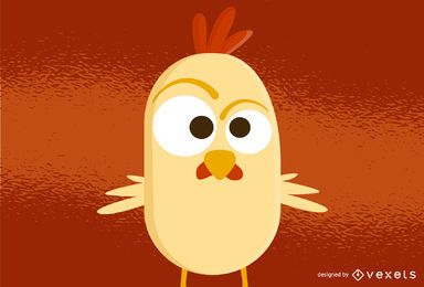 Vector de gallo divertido gratis