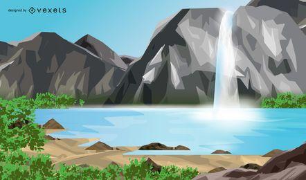 Primavera de poço de água pura