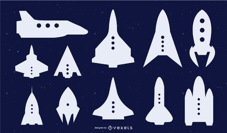 Space Shuttle Silhouette Graphic Set