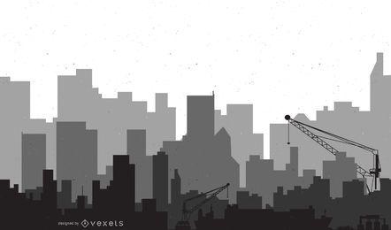 Arte de vetor de cidade moderna