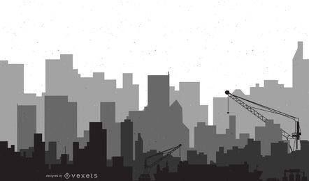 Arte moderno de vector de la ciudad