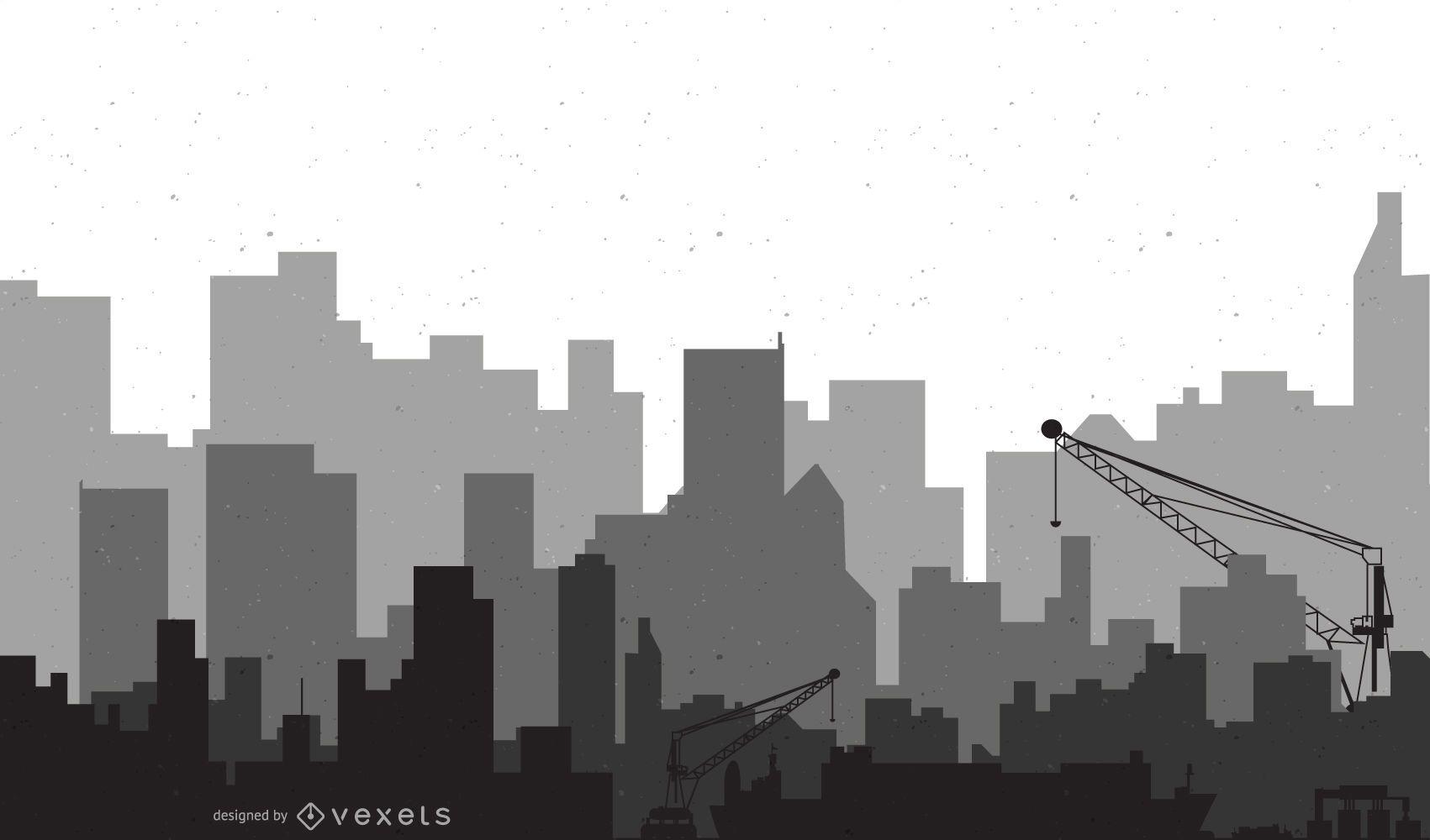 Arte moderno del vector de la ciudad