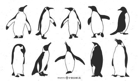 Emperor Penguin Silhouette Set