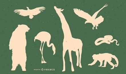 Vektor der wild lebenden Tiere