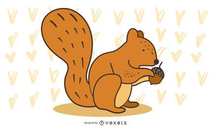 squirrel nut illustration design